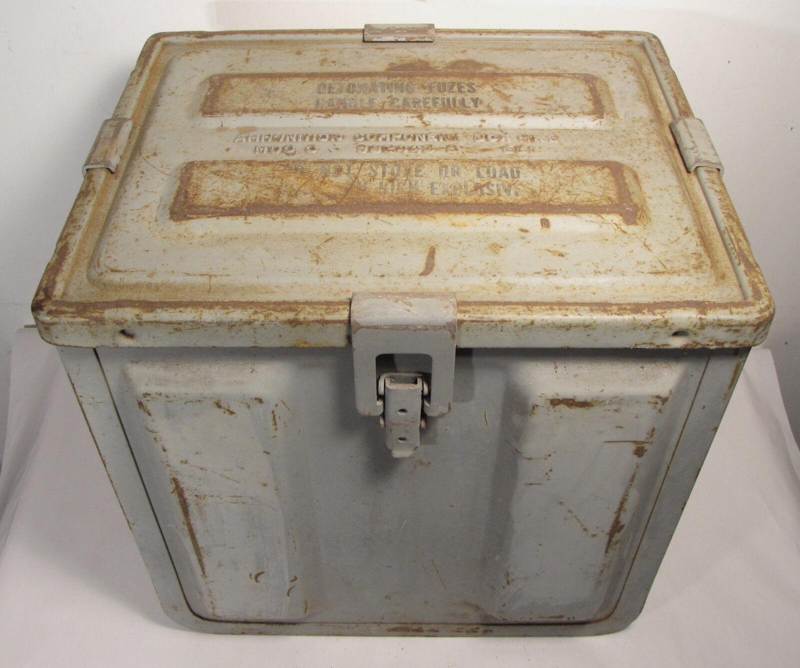 vintage us navy mk2 fuse ammo box wwii korean war era