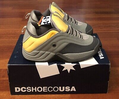 DC SHOES Stevie Williams OG Size 9 Grey/Yellow DEADSTOCK