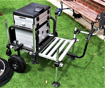 Avanti Fishing Seat / Boxes With Attachments, Wheels. + Extras.