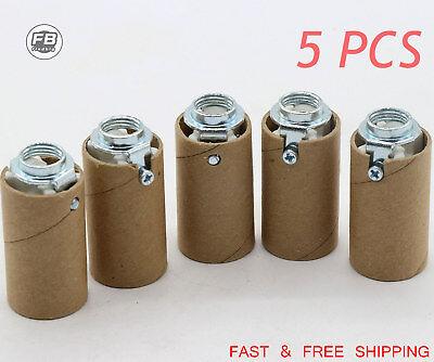 PORCELAIN CANDELABRA HIGH HEAT Glass Insulator Light Sockets Lamp Parts E12