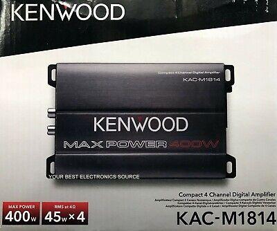 NEU Kenwood KAC-M1814 Kompakter 4-Kanal-Autoradio-Verstärker KACM1814