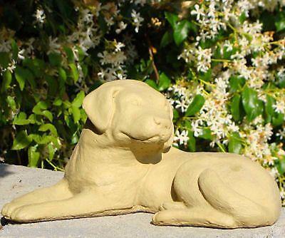LABRADOR RETRIEVER PUPPY Cast Stone Dog Home Garden Patio Office Statue (O)