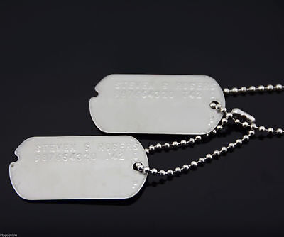 Avengers Captain America Stainless Steel Military Dog Tags Cosplay Costume Prop](Captain America Dog Costume)