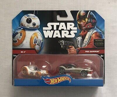 Hot Wheels Star Wars Diecast BB-8 & Poe Dameron Brand New