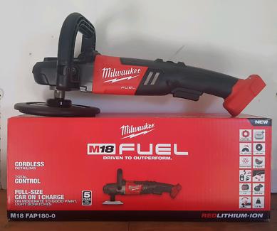 "Milwaukee Fuel 7"" Polisher BRAND NEW, full wty."