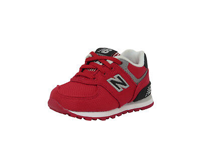 New Balance Shoes Toddler Infant Boys Girls KL574F5I Red Gray Black Sneakers ()