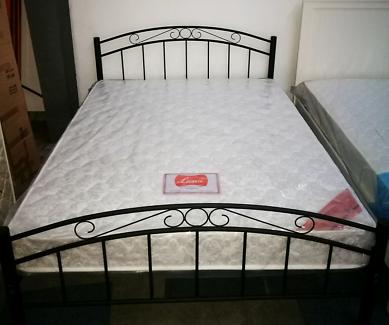 brand new metal bed Single:$99 Double:$180 queen:$190  bed+mattre