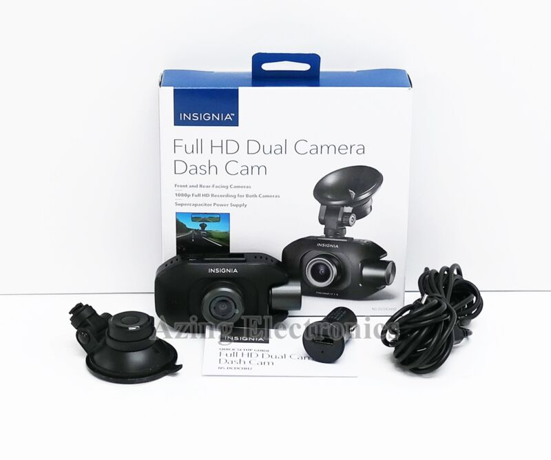 Insignia NS-DCDCHH2 Full HD Dual Camera Dash Cam