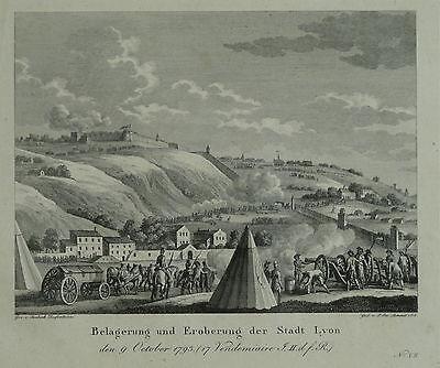 Laminit, Paul-Jacob, Swebach-Desfontaines Jacques - Belagerung Lyon Stich 1816
