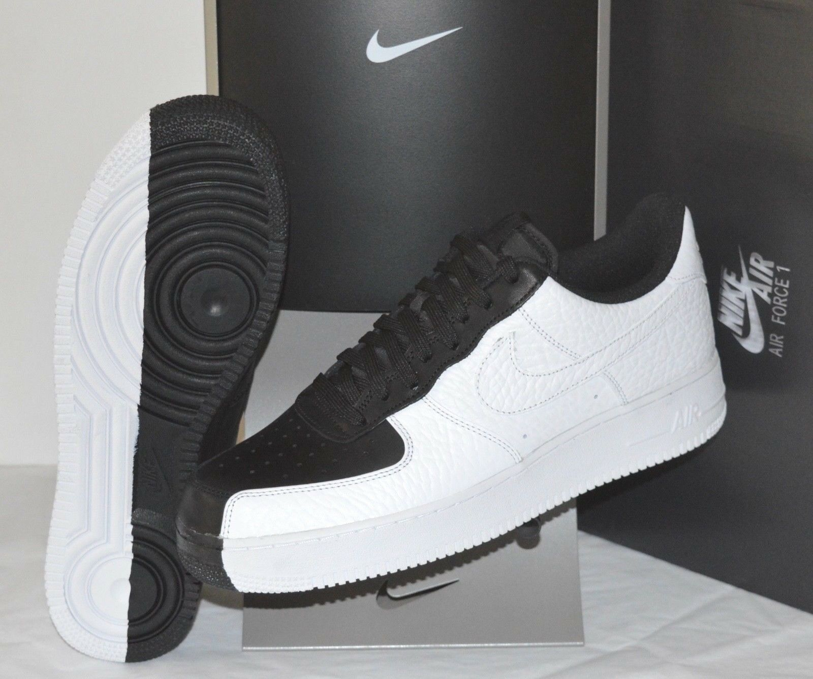 the best attitude f58e2 7de64 New Nike Air Force 1 '07 PRM Black-White Scarface One Premium Split Yin  Yang 11