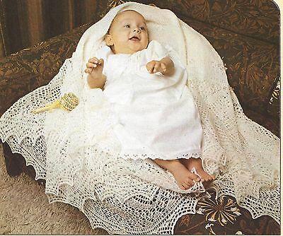 Shetland Lace Shawl (Shetland Lace Baby Shawl Knitting Pattern 1ply  60
