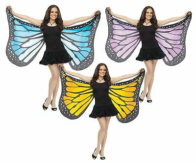 Soft Butterfly Wings Monarch Blue Yellow Purple Black Fancy Dress Womens Adult (Monarch Butterfly Wings)