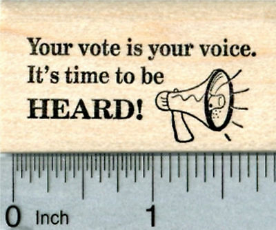 Voting Rubber Stamp  Your Vote Is Your Voice E33722 Wm