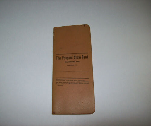 The Peoples State Bank Mazomanie Wisconsin Bank Account Ledger, vintage