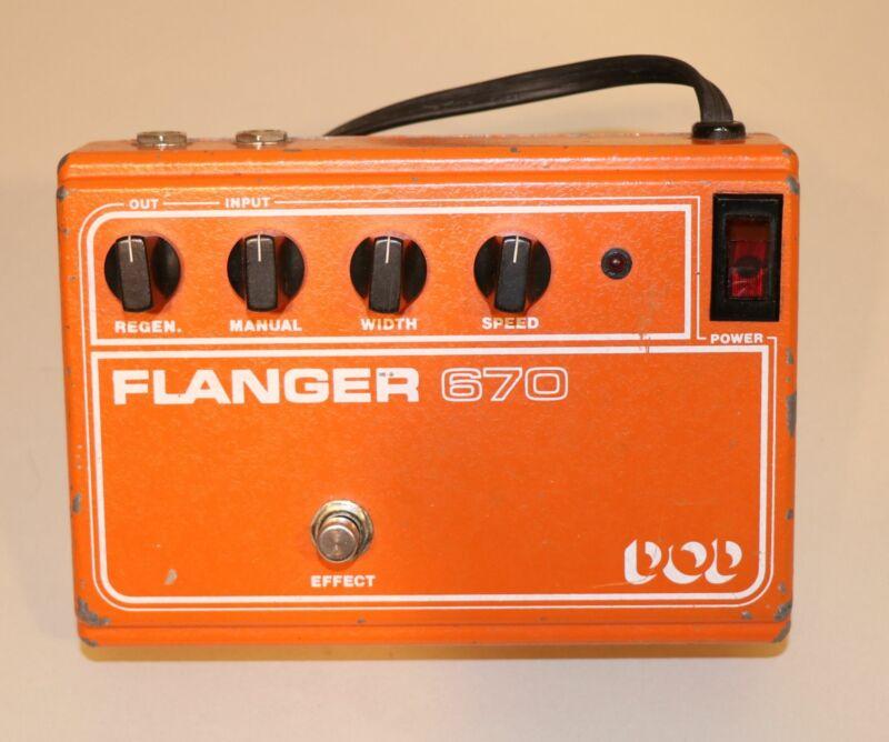Vintage DOD Electronics Flanger 670 Orange Corded Guitar Effects Pedal
