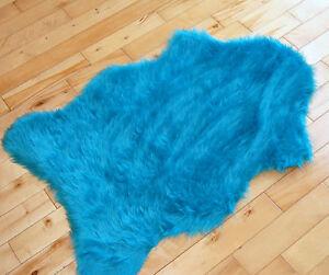 Blue Fluffy Rug Ebay