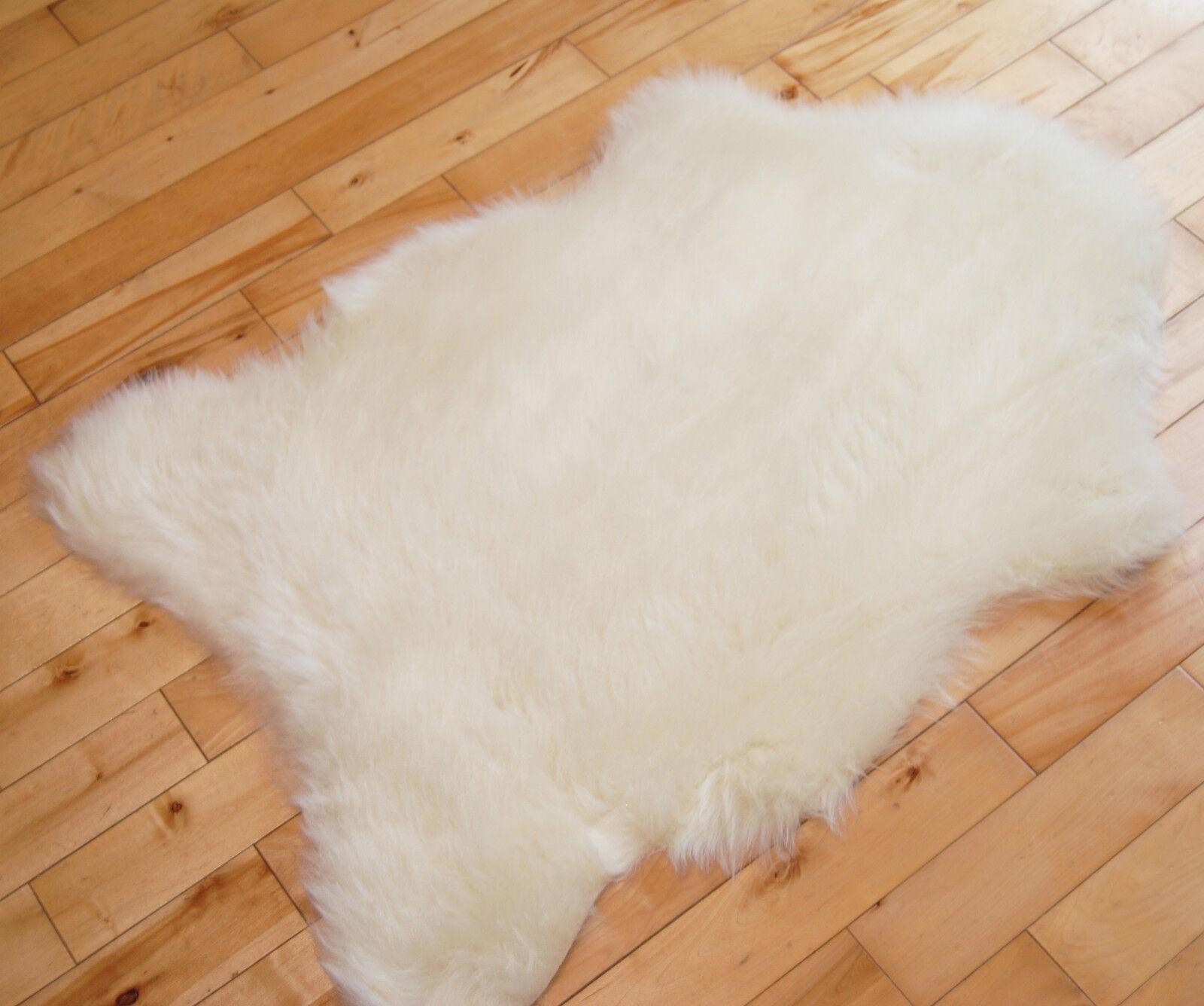 Cream Fur Rug Home Decor