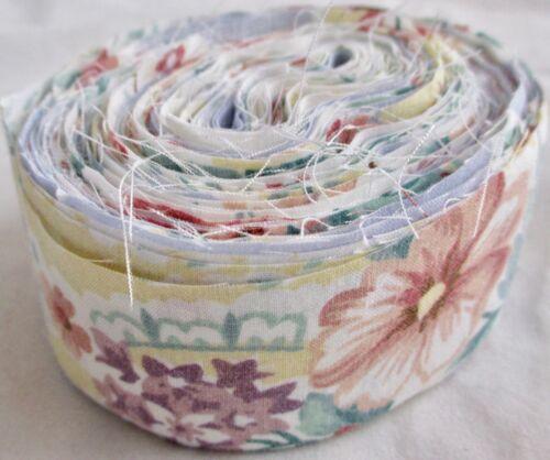 Rag Rug Yarn PreCut Fabric Strips Toothbrush Amish Knot Braided Crochet 21 Yards