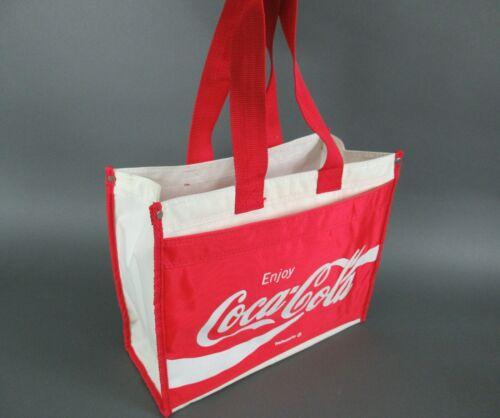 Vintage Coca - Cola Red Reflective Canvas Tote Bag