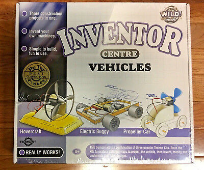 BUILD A 3-in one VEHICLE INVENTOR Kids Kit NIB; Dr.Toy Best Classic Toy