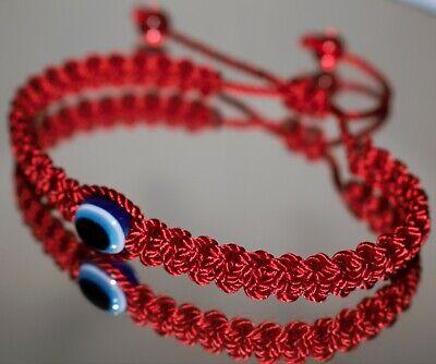 Evil eye amulet -Red String Good luck Braided bracelet -evil eye protection