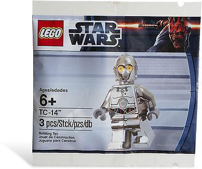 *BRAND NEW* Lego 5000063 STAR WARS Silver Chrome Minifig TC-14 Polybag