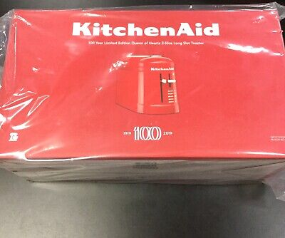KitchenAid 100 Year Limited Queen Of Hearts 2-Slice Toaster Long Slot Red NIB LE