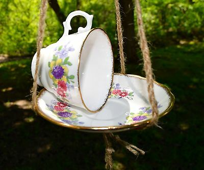 Tea Cup Bird Feeder, Garden Decor