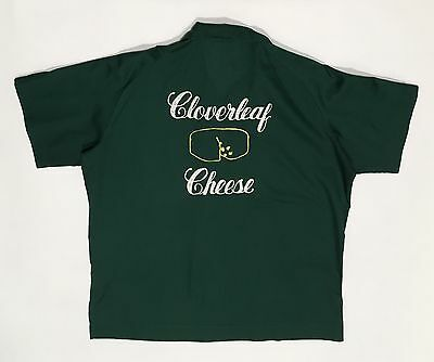 Vtg Hilton Bowling Shirt Sz L Chain Embroidery Rockabilly Camp VLV 50s-60s