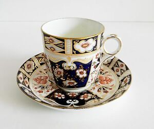 Sutherland china Imari cup and saucer - gold accents - England