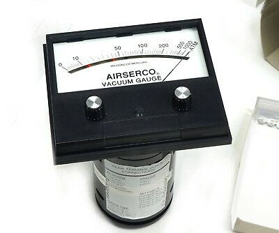 Airserco Analog High Vacuum Gauge Gage 9044-sm 0-1000 Microns Dial Only