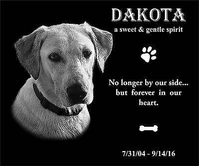 """8x6"""" Pet Headstone, tombstone Laser Engraved, Grave Marker Granite monument gift"""