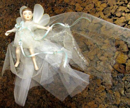 Handmade Victorian Look Snow Fairy Christmas Ornament - Porcelain, Gift Box