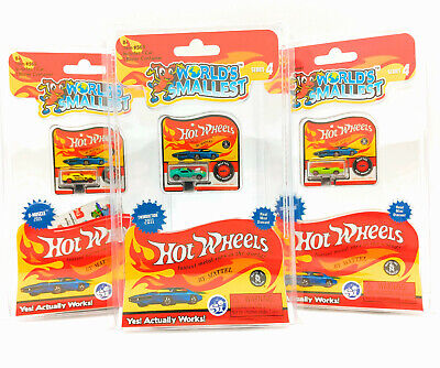 (SET OF 3) World's Smallest Hot Wheels Series 4 By Mattel Twinduction, Turbofire