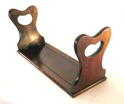 Antique Victorian Collapsing Extendable Rosewood Hand Made Bookslide / Bookrack