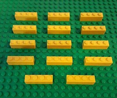 Lego Lot Of 14 Part 3010 Brick 1 x 4 Yellow From Spongebob set 3826 Build-A-Bob