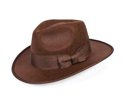 Erwachsene braun 1940s Jahre Adventurer Fedora Hut Kostüm Indiana Jones (Indiana Jones Kostüme Erwachsene)