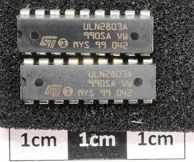 Pack of 2 ST Micro ULN2803A Darlington Transistor Array