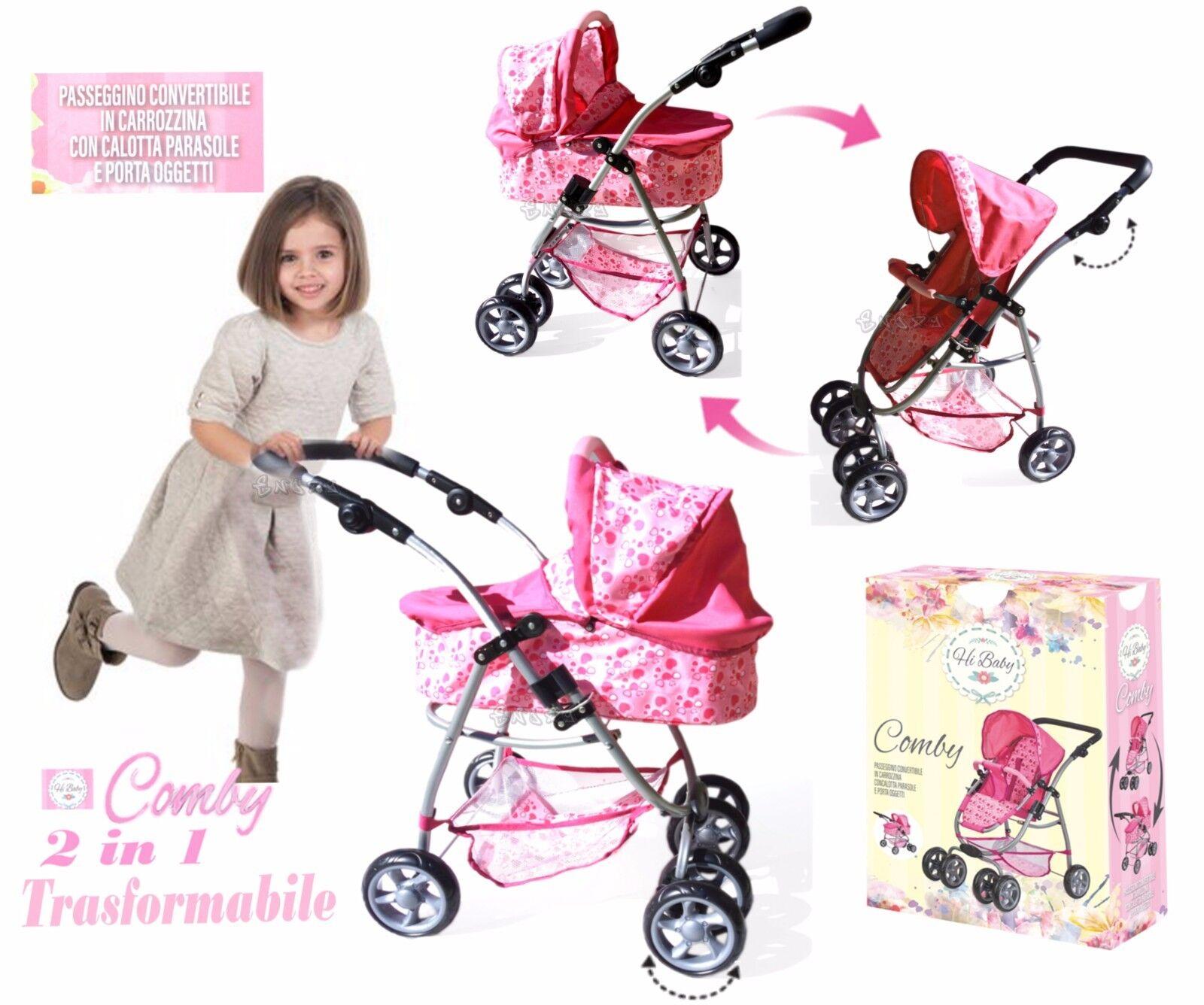 Bambola Carrozzina Passeggino per Bambole Trasformabile gioco bambina 215593