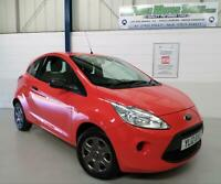FORD KA 1.2 (69ps) STUDIO 3DR,SUNRISE RED,LOW INS GRP 3,64+MPG,£30 R/TAX