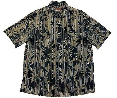 Tori Richard Honolulu Mens Sz Medium Silk Cotton Blend Hawaiian Style Camp -