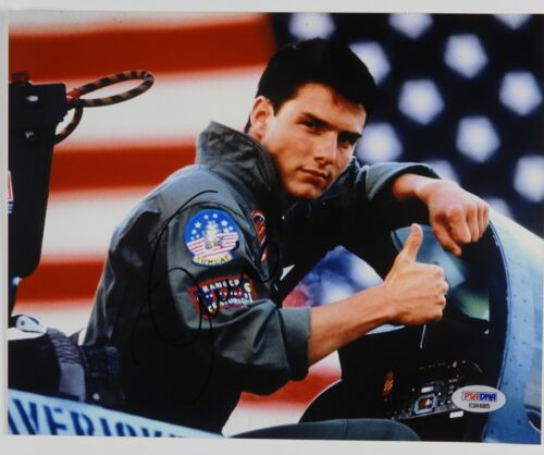 Tom Cruise Top Gun Autograph Signed 8 x 10 PSA COA