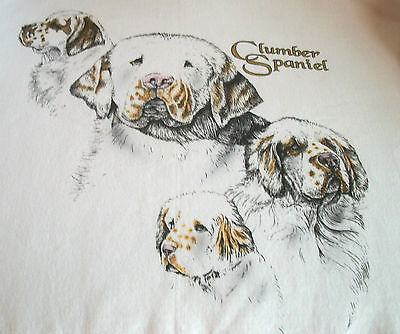 "Clumber Spaniel T-shirt  "" Natural ""  Medium  ( 38 - 40 )"