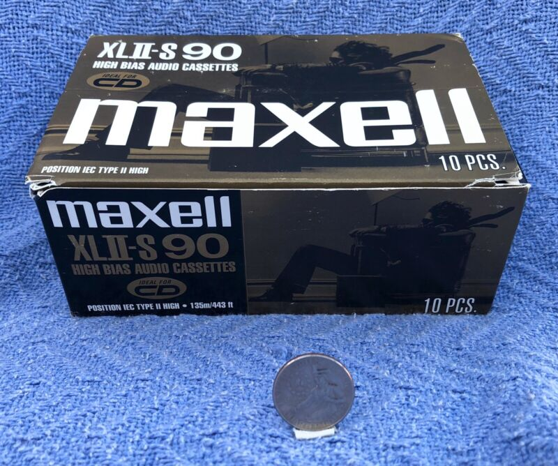 Maxell XLII-S  90 Minutes Type II High Bias Audio Cassette Tapes SEALED NOS