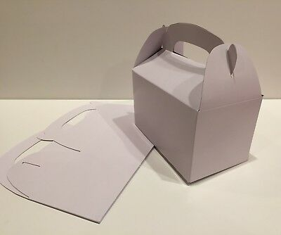30 WHITE PARTY FAVOR TREAT BOXES BAG GREAT FOR BIRTHDAYS WEDDING BABY covid 19 (Baby Shower Treat Bags coronavirus)