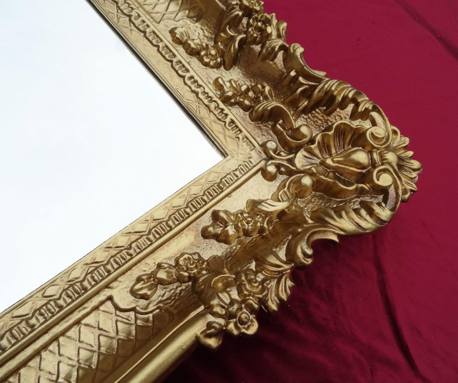 Wandspiegel gold 96x57 antik spiegel barock rokoko for Wandspiegel barok