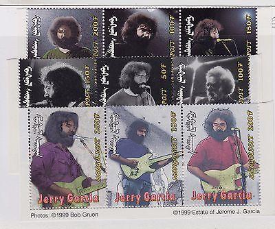 MONGOLIA MNH Scott # 2328A-2328E Jerry Garcia (15 Stamps)