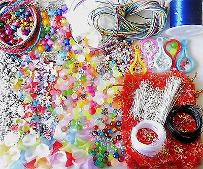 XXL 2000 teilig Bastel-Paket mit Perlen Schnüre Zubehör. Basteln mit Kindern 1A