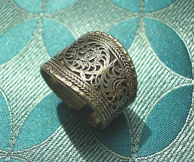 Sehr schöner Silber Herren RING aus Nepal FILIGRAN
