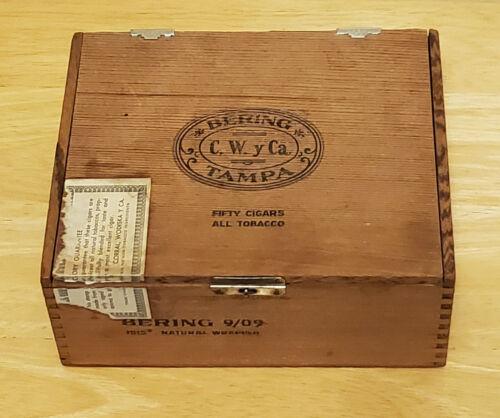 Bering Tamps All Wood Cigar Box